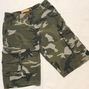Boys Lee Dungarees Camo Cargo Shorts